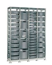 Stackable storage shelving