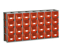 Workshop shelving / light-duty / box / single-sided