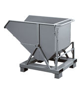 Steel crate / storage / on casters / tilting
