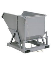 Tilting container / steel / storage / on casters