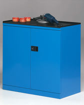 Storage cabinet / free-standing / double door / with drawer