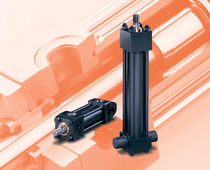 Hydraulic cylinder / double-acting / for heavy-duty loads / tie-rod