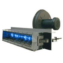 Gas burner / linear / nozzle mix