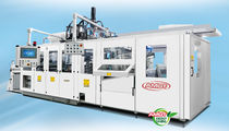 Flat-film extrusion line / for PP / for PVC / for PET