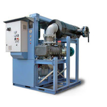 Rotary vane vacuum pump / two-stage / lubricated / industrial