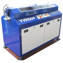 Guillotine cutting machine / metal / for tubes / profile
