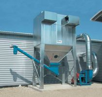 Bag dust collector / pulse-jet backflow / modular / for wood dust