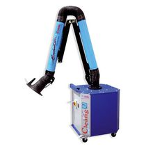Mobile dust and fume extractor / cartridge / with extraction arm