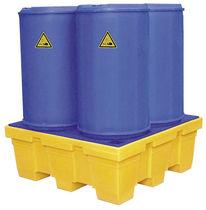 Multi-use containment bund / 4-drum / polyethylene / rigid