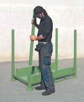 Metal pallet box / transport / folding / tubular