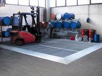 Steel flooring system / ecological / polyethylene