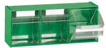 Plastic crate / tilting