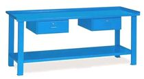 Steel workbench / with drawer