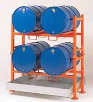 Storage warehouse shelving / for medium loads / for drums