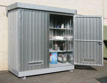 Workshop cabinet / floor-mounted / metal / with bund