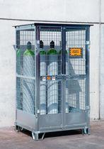 Storage cabinet / floor-mounted / galvanized steel / for gas bottles