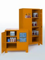 Workshop cabinet / floor-mounted / with compartments / steel