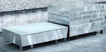Multi-use containment bund / 2-drum / galvanized steel / rigid