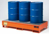 Multi-use containment bund / 3-drum / carbon steel / rigid