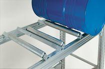 Storage cabinet / floor-mounted / with swing doors / metal