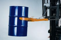 Drum emptying system / for forklift trucks