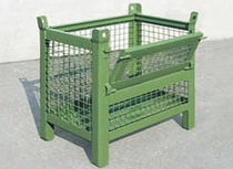 Metal crate / wire mesh / handling / swing
