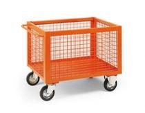 Storage cart / metal / wire mesh platform / multipurpose