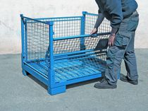 Metal crate / wire mesh / handling / folding