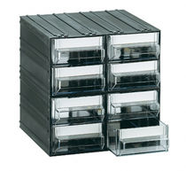 Modular storage system with transparent drawers