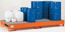 Multi-use containment bund / 8-drum / carbon steel / rigid