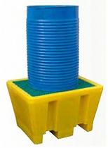 Multi-use containment bund / 1-drum / polyethylene / rigid