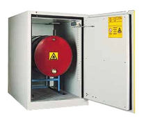 Workshop cabinet / floor-mounted / steel / fire-resistant