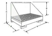 Multi-use containment bund / 4-drum / carbon steel / rigid
