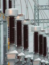 Instrument transformer / encapsulated / floor-standing / inductive voltage