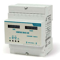 Three-phase electric energy meter / DIN rail