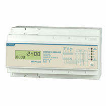 Three-phase electric energy meter / DIN rail / digital