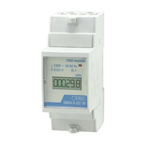 Single-phase electric energy meter / DIN rail / digital