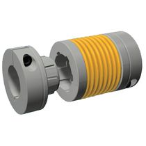 Flexible shaft coupling / metal bellows