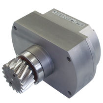 Friction brake / electromagnetic / with pinion / emergency