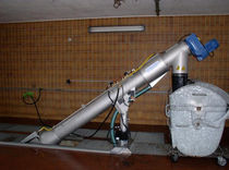 Screw screener / for liquids / for wastewater treatment