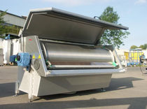Drum screener / for liquids / drainage / self-cleaning