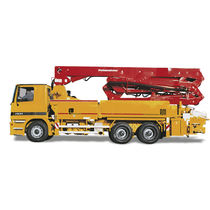 Construction truck-mounted concrete pump