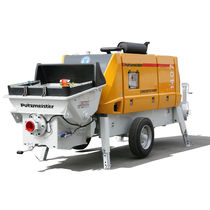 Trailer-mounted concrete pump / for construction