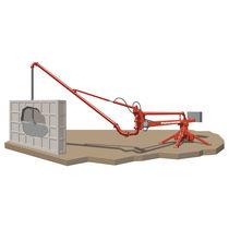 Concrete rotary distributor