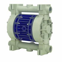 Double-diaphragm pump / pneumatic / discharge / in plastic