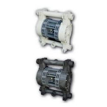 Double-diaphragm pump / pneumatic / in plastic / for aggressive media