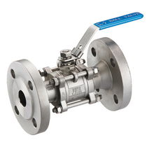 Ball valve / manual / flange / 3-piece