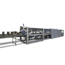Automatic shrink wrapping machine / for bottles / beverage / for heat-shrink films