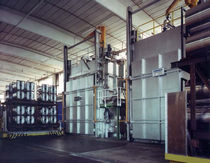 Aging furnace / tunnel / electric / for aluminum