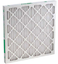 Air filter / panel / high-capacity / pleated